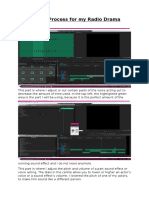 editing process for my radio drama