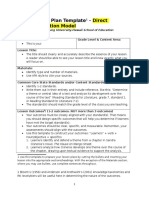 direct instruction model lesson plan template  1
