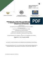 SEMINARIO OMPI DERECHOS DE PROPIEDAD INDUSTRIAL DE LOS PAISES ANDINOS