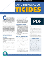 SAFE USE AND DISPOSAL OF Pesticides