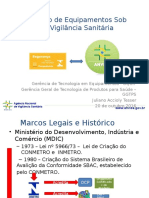 SEMINÁRIO DISPOSITIVOS MÉDICOS - Certificação de Equipamentos Sob Regime de Vigilância Sanitária