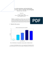 Between social awareness and productivity, results of a survey about real-time microblogging