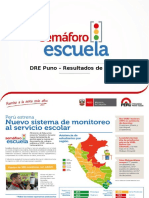 DRE Puno - Semáforo Escuela - Presentación de Resultados - Mayo 2016