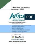 KEI APICS CPIM Information Booklet 2010.01