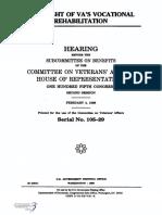 HOUSE HEARING, 105TH CONGRESS - OVERSIGHT OF VA'S VOCATIONAL REHABILITATION