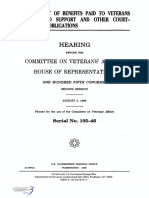 HOUSE HEARING, 105TH CONGRESS - GARNISHMENT OF BENEFITS PAID TO VETERANS FOR CHILD SUPPORT AND OTHER COURT- ORDERED OBLIGATIONS