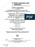 JOINT HEARING, 105TH CONGRESS - OVERSIGHT OF UNITED STATES/MEXICO DRUG COOPERATION