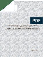 Guide Relatif à La Mise en Place de La Traçabilité Dans Le Secteur Agroalimentaire
