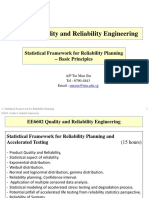 2 Statistical Framework for Reliability Planning-- Basic Principles -- VER 2017