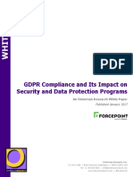 GDPR Compliance and Its Impact on Security and Data Protection Programs