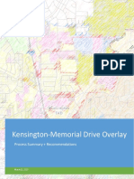 memorial drive overlay report revisions