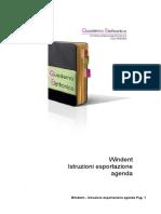 Windent - 07 Esporta Agenda