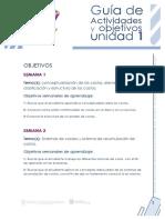 Unidad 1 - Guia de Actividades y Objetivos