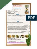 Thai Chef Noodle Fusion Menu