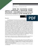 A Face Oculta Dos Movimentos Sociais