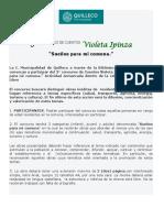 BASES 3°CONCURSO DE CUENTO VIOLETA IPINZA