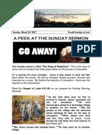 Pastor Bill Kren's Newsletter - March 26, 2017