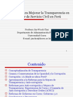 9. Strategies for Transparency Enhancement in the Peruvian Civil Service