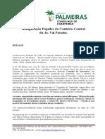 Release Lançamento Canteiro Central