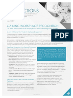 Gaining Recognition as a Best Place to Work