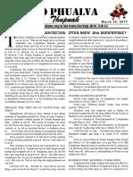 Zo Phualva Thupuak - Vol 07, Issue 06