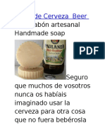 Jabón de Cerveza Beer Soap Jabón Artesanal Handmade Soap