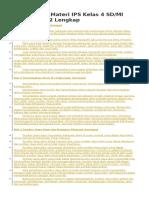 Rangkuman Materi IPS Kelas 4-6 SD