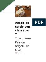 Asado de Cerdo Con Chile Rojo T