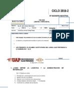 Examen Sustitutorio Logis Internacional 2016