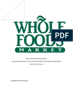whole foods market brand analysis