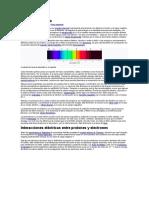 Nivel de Energía y Línea Espectral. Atómicas