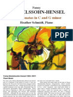 Obras para piano de Fanny Mendelssohn-Hensel