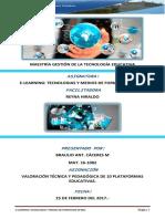 Valoración Técnica y Pedagógica de 10 Plataformas Educativas