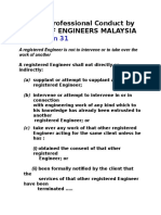 Code of Professional Conduct by Board of Engineers Malaysia