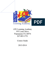 Course Guide 2013 2014 Revised