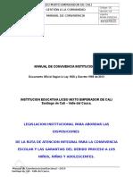 Manual de Convivencia Versión Oficial 2015