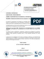 6. Transformacion de Cooperativa a Corporacion
