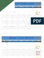 beta calendar