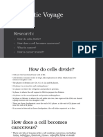 Fantastic Voyage - Cell Division, Cancer and Treatment (Research)