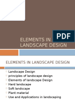 Elements in Landscape Design - Unit 2