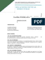 Especificaciones Tecnicas San Francisco de Asis - 1