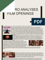 Macro Analyses of Film Openings