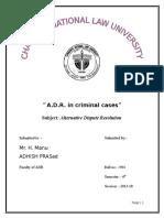 A.D.R. in criminal cases