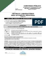 Fundep 2014 if Sp Tecnico de Laboratorio Automacao Industrial Prova (1)