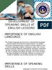 Development of Speaking Skills at English Lessons