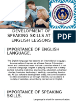 Development of Speaking Skills at English Lessons