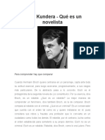 Milan Kundera - Qué Es Un Novelista