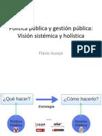 Masterclass 1-Política Pública y Gestión Pública Visión Sistemica y Holística