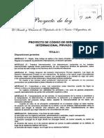 anteproyecto del codigo de derecho internacional privado
