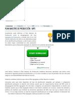 Plan Maestro de Producción - MPS - Ingeniería Industrial